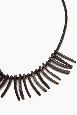 INK + ALLOY Coconut Sticks Necklace - Black Jewelry | Coconut Sticks Necklace - Black