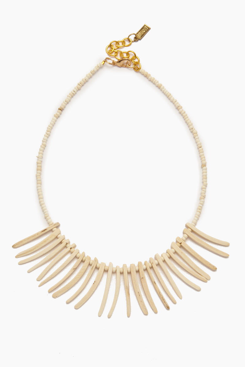 INK + ALLOY Coconut Sticks Necklace - White Jewelry | Coconut Sticks Necklace - White