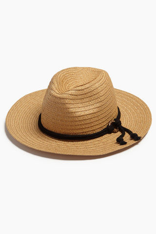 DAVID & YOUNG Wide Brim Sun Hat With Rope - Natural Hat | | David & Young Wide Brim Sun Hat With Rope - Natural side view