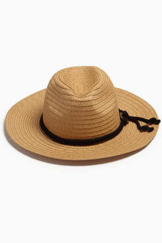 DAVID & YOUNG Wide Brim Sun Hat With Rope - Natural Hat | | David & Young Wide Brim Sun Hat With Rope - Natural  front view