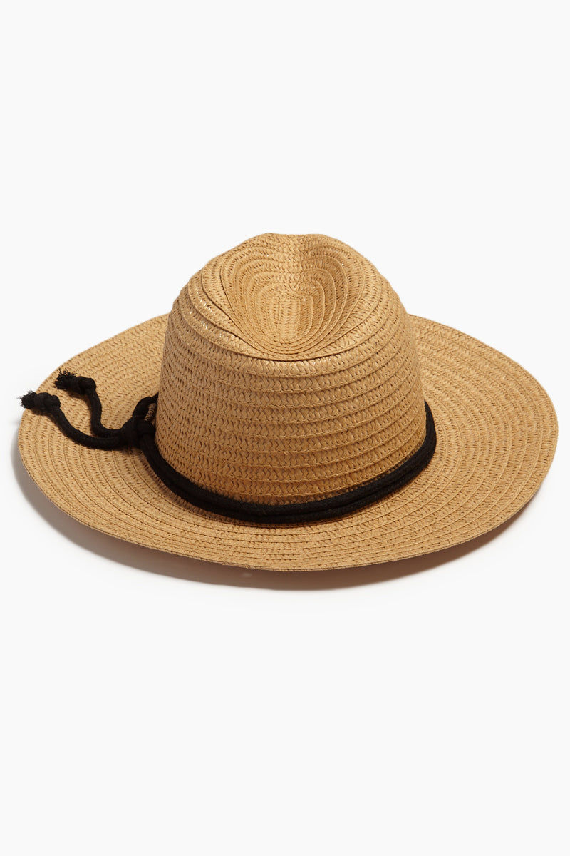 DAVID & YOUNG Wide Brim Sun Hat With Rope - Natural Hat | | David & Young Wide Brim Sun Hat With Rope - Natural back view