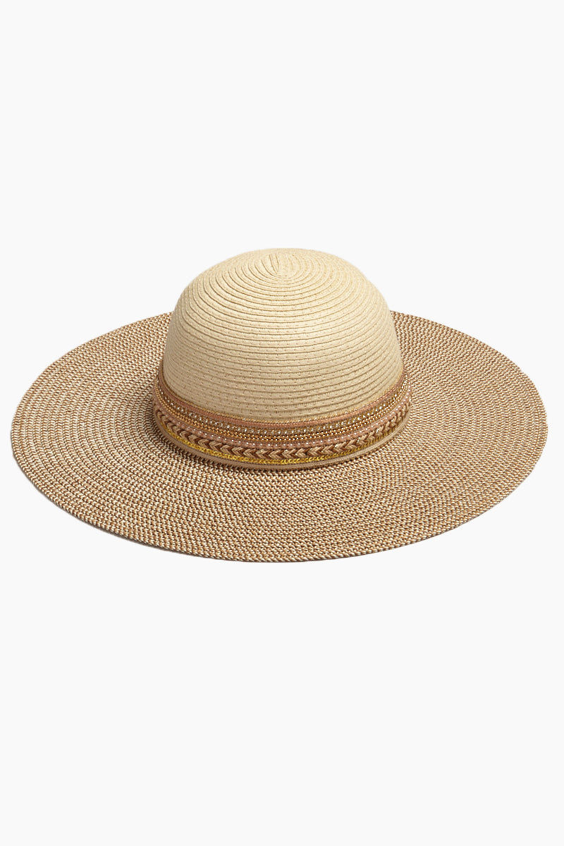 DAVID & YOUNG Two Tone Floppy Sun Hat - Natural Hat | | David & Young Two Tone Floppy Sun Hat - Natural