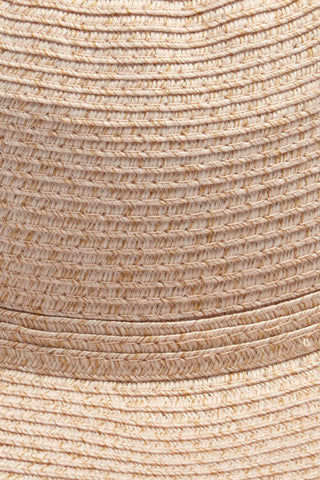 DAVID & YOUNG Straw Bucket Hat With Bow - Blush Hat | | David & Young Straw Bucket W/ Bow Back - Blush Close Up View Straw Bucket Hat  Big Bow Detail  Short Brim