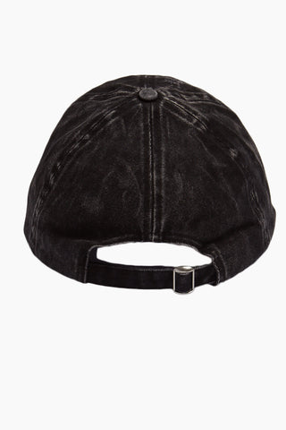 DAVID & YOUNG Washed Out Retro Baseball Cap - Black Hat | | David & Young Washed Out Retro Baseball Cap - Black back view