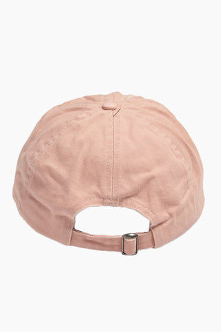 DAVID & YOUNG Instafamous Slogan Distressed Baseball Cap - Pastel Pink Hat | | David & Young Instafamous Slogan Distressed Baseball Cap - Pastel Pink  back view