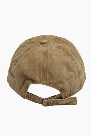 "DAVID & YOUNG Bad Hair Day Slogan Baseball Cap - Khaki Hat | | David & Young Bad Hair Day Slogan Baseball Cap - Khaki back view Washed-out khaki baseball cap with ""bad hair day"" embroidery in white."