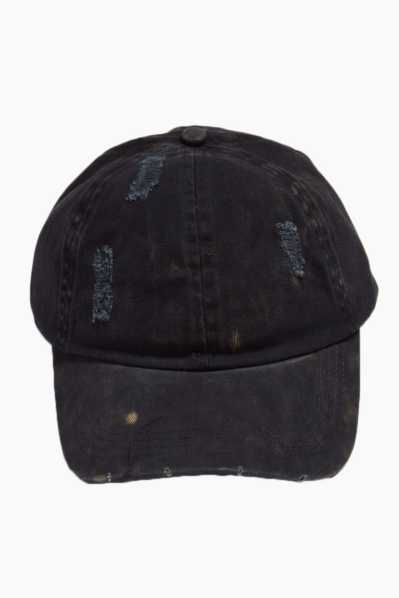 DAVID & YOUNG Washed Out Distressed Baseball Cap - Navy Hat | | David & Young Washed Out Distressed Baseball Cap - Navy front view