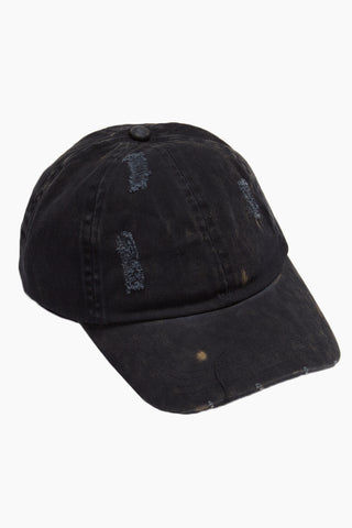 DAVID & YOUNG Washed Out Distressed Baseball Cap - Navy Hat | | David & Young Washed Out Distressed Baseball Cap - Navy side view