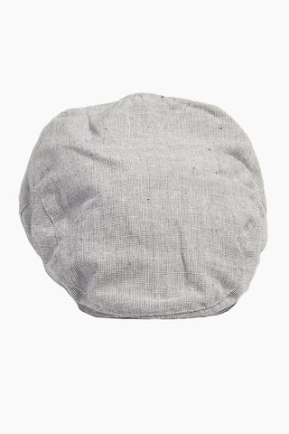 "DAVID & YOUNG Speckled Chambray Newsboy Cap - Grey Hat | | David & Young Speckled Chambray Ivy W/ Elasta Fit - Grey Front View Classic Newsboy Cap  Speckled Chambray  Flat Crown  Elastic Back Band  Lined  Approx 3"", 22"" inner circumference  100% polyester"