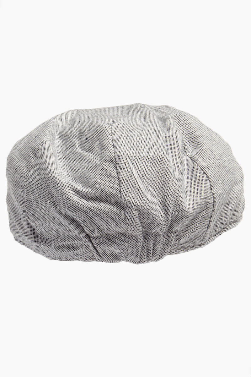 "DAVID & YOUNG Speckled Chambray Newsboy Cap - Grey Hat | | David & Young Speckled Chambray Ivy W/ Elasta Fit - Grey Back View Classic Newsboy Cap  Speckled Chambray  Flat Crown  Elastic Back Band  Lined  Approx 3"", 22"" inner circumference  100% polyester"