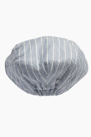 DAVID & YOUNG Herringbone Stripe Newsboy Cap - Blue Hat | | David & Young Herringbone Stripe Newsboy Cap - Blue  back view