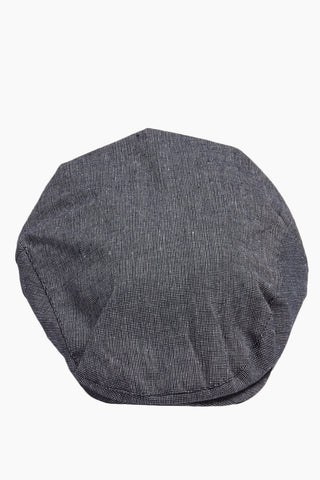 DAVID & YOUNG Speckled Chambray Newsboy Cap - Slate Hat | | David & Young Speckled Chambray Newsboy Cap front view
