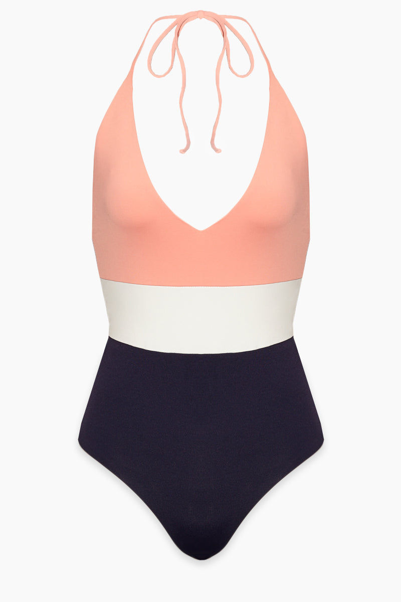 TAVIK Chase One Piece Swimsuit - Coral One Piece   Coral  Tavik Chase One Piece Front View