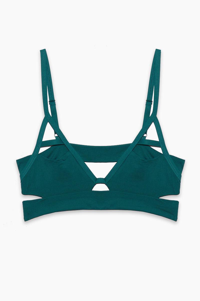 TAVIK Jessi Bikini Top - Storm Green Bikini Top | Storm Green| Tavik Jessi Bikini Top Front View