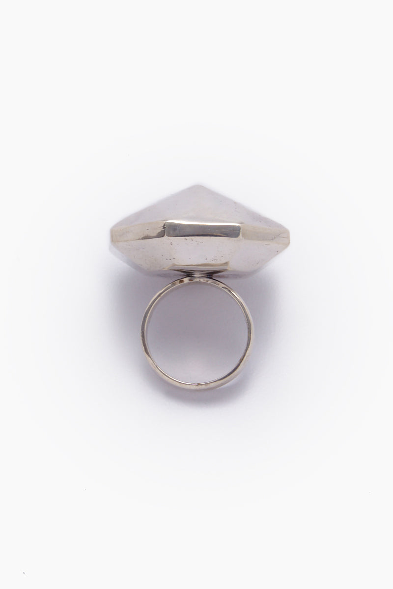 LENA BERNARD Danika Pyramid Statement Silver Ring Jewelry | Danika L Ring - Silver
