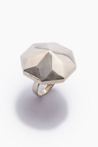 LENA BERNARD Danika Pyramid Statement Silver Ring Jewelry | Danika L Ring - Silver