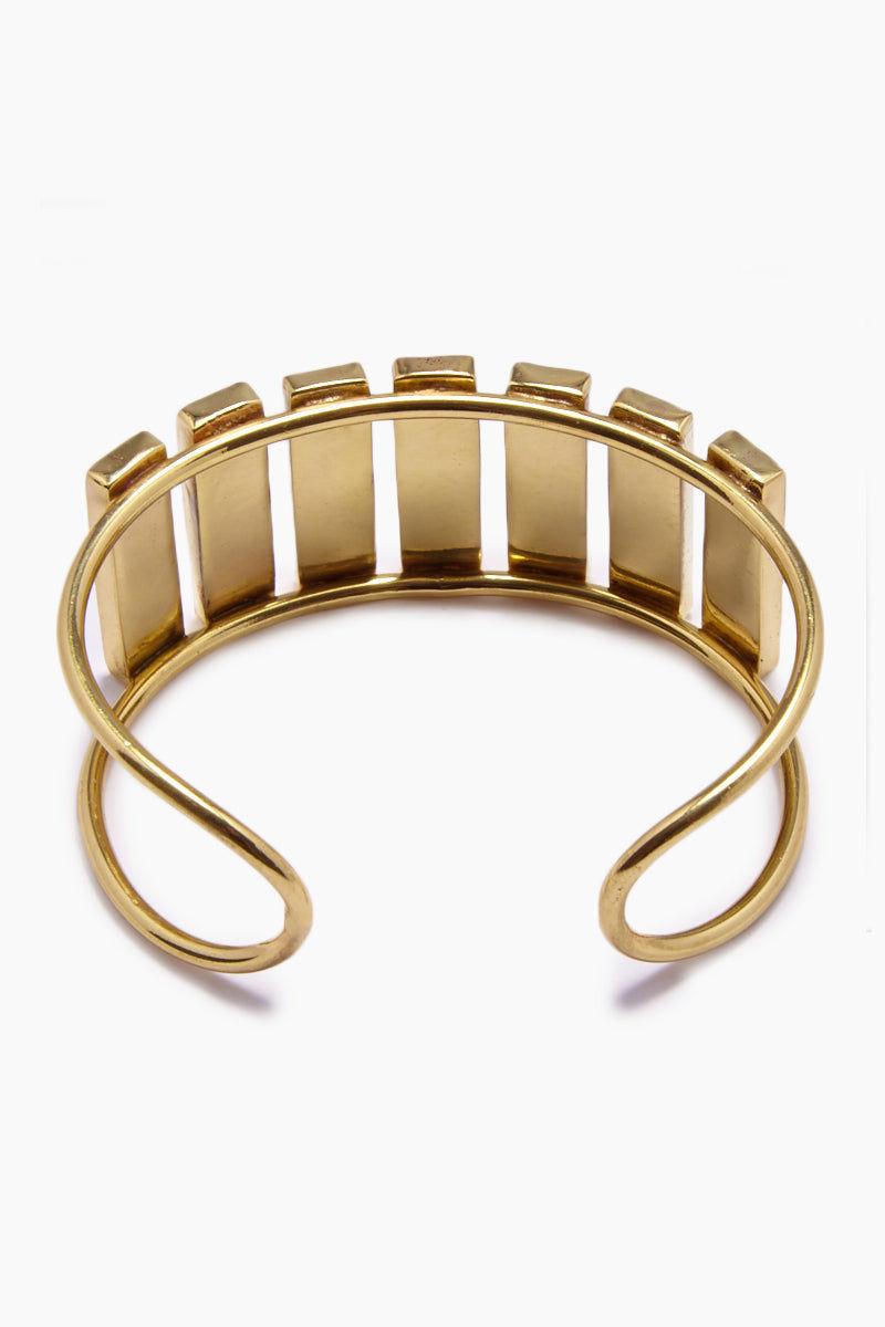 LENA BERNARD Damaris Mirrored Gold Brass Cuff Bracelet Jewelry | Damaris Cuff - Gold