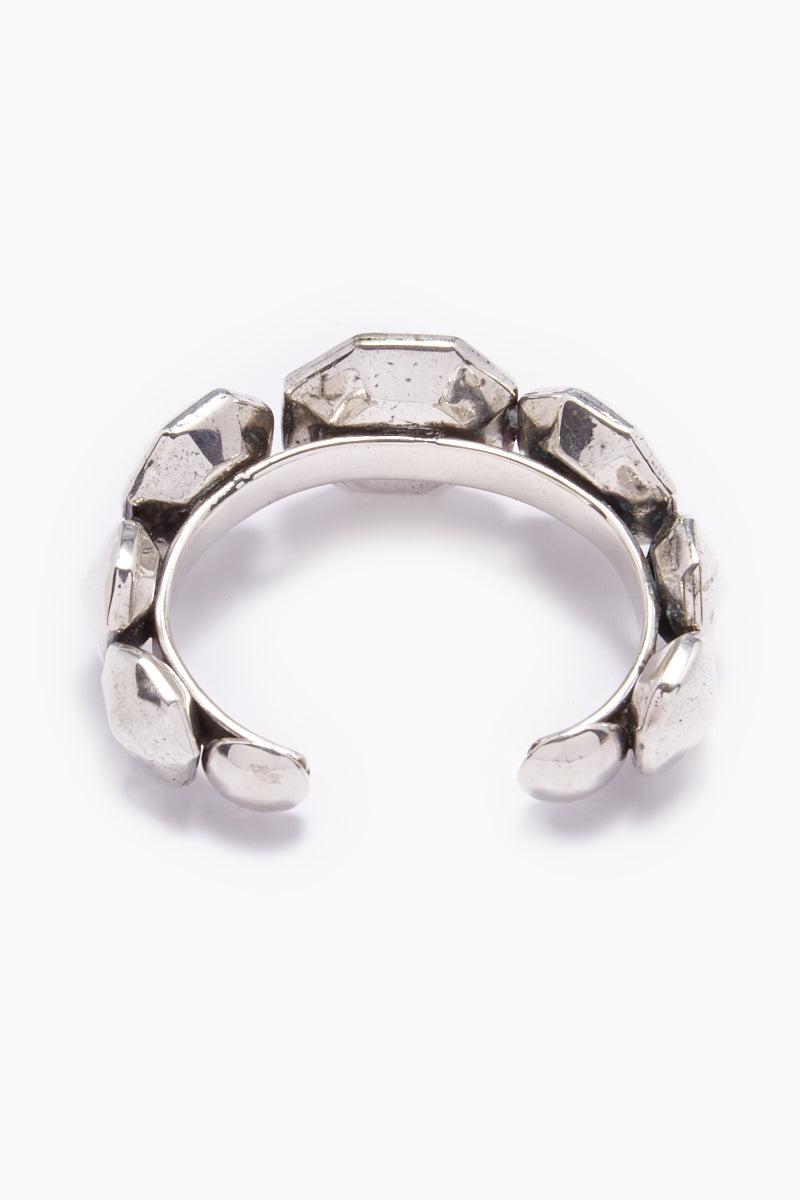 LENA BERNARD Diandra Studded Silver Cuff Bracelet Jewelry | Diandra Cuff - Silver