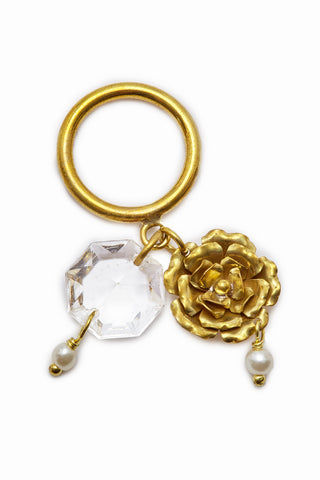LENA BERNARD Crysta Dangling Charms Gold Ring Jewelry | Crysta Ring - Gold