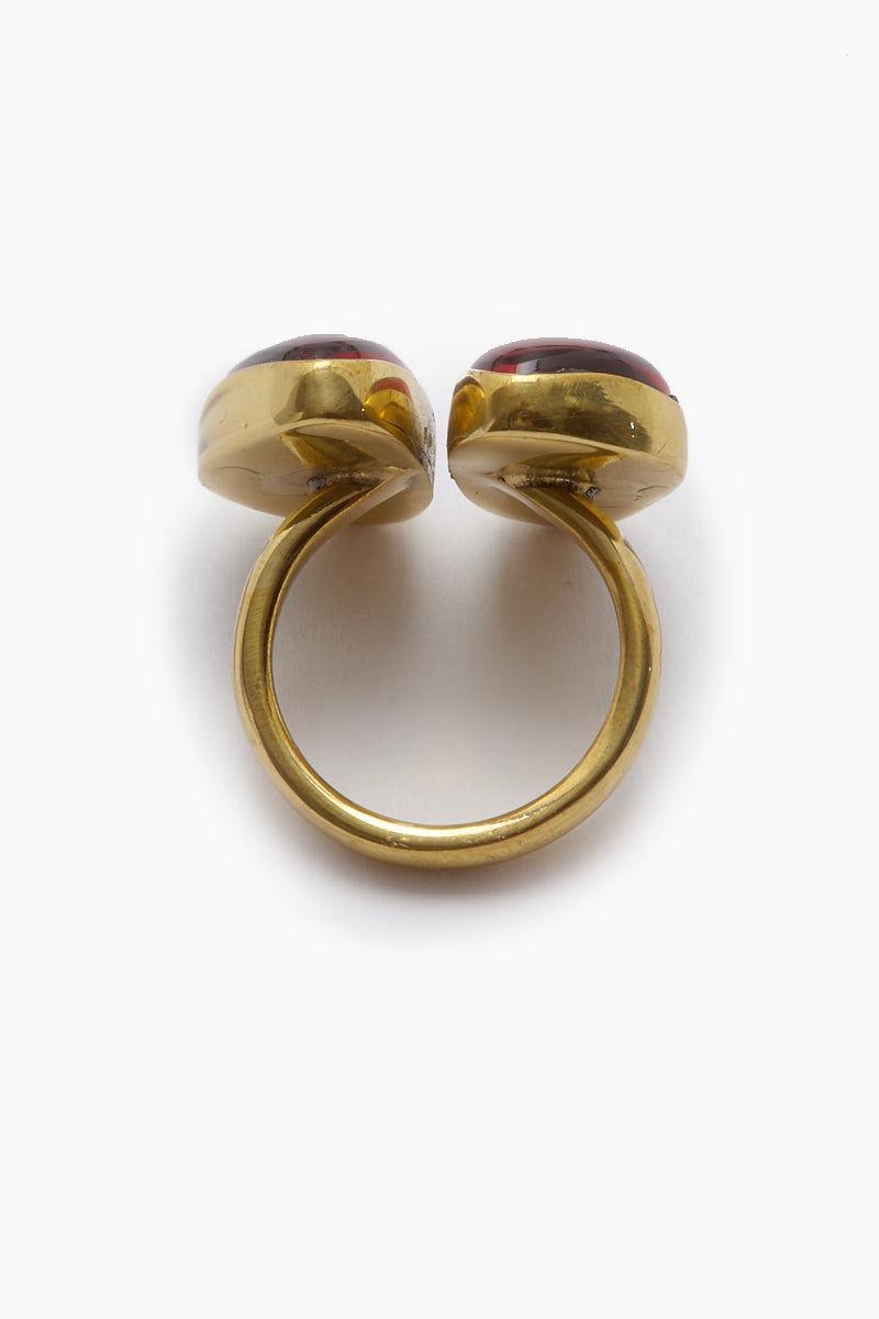 LENA BERNARD Naenia Red Quartz Gold Ring Jewelry | Naenia Ring - Red Quartz/Gold
