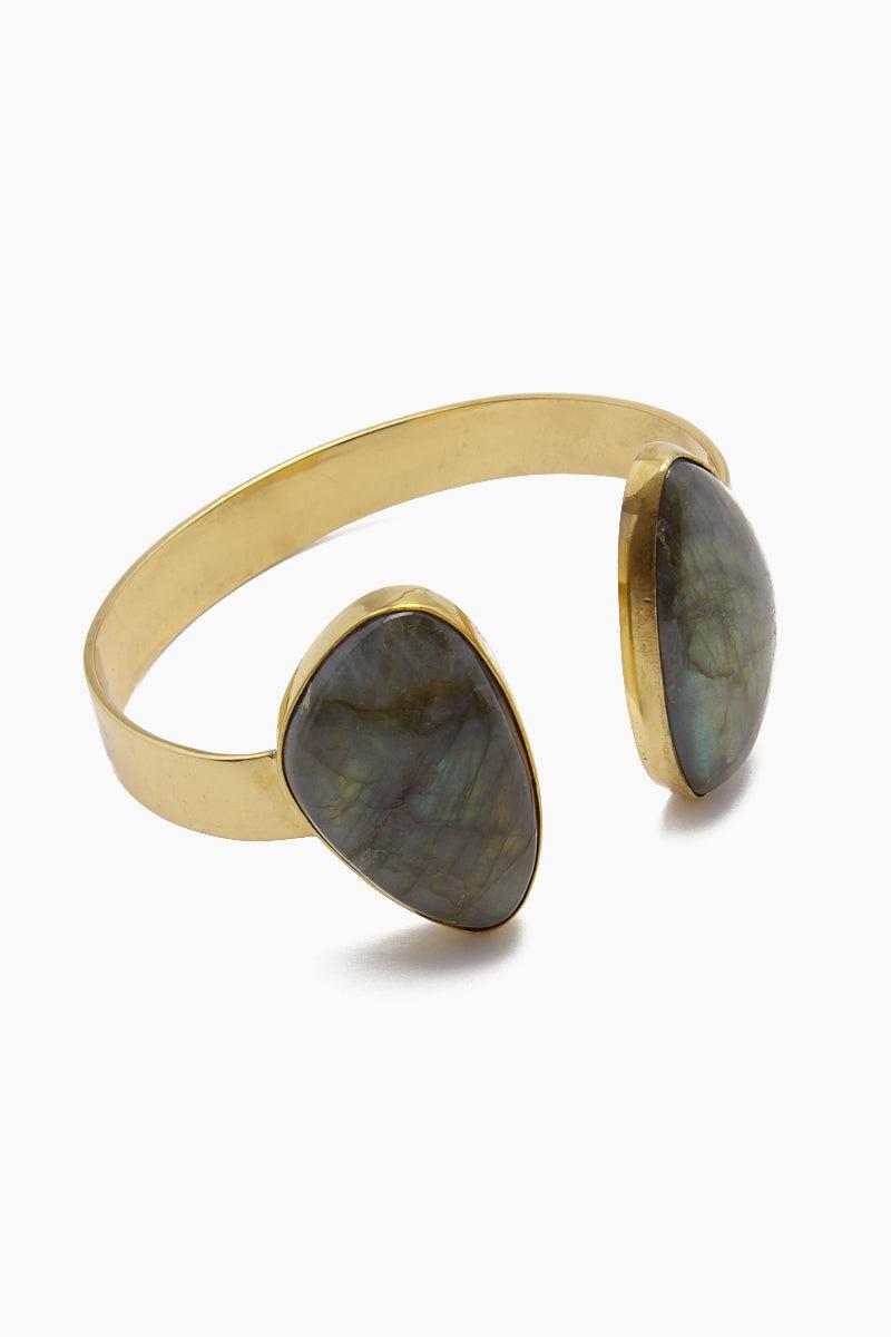 LENA BERNARD Naenia Labradorite Gold Cuff Bracelet Jewelry   Naenia Cuff - Labradorite/Gold