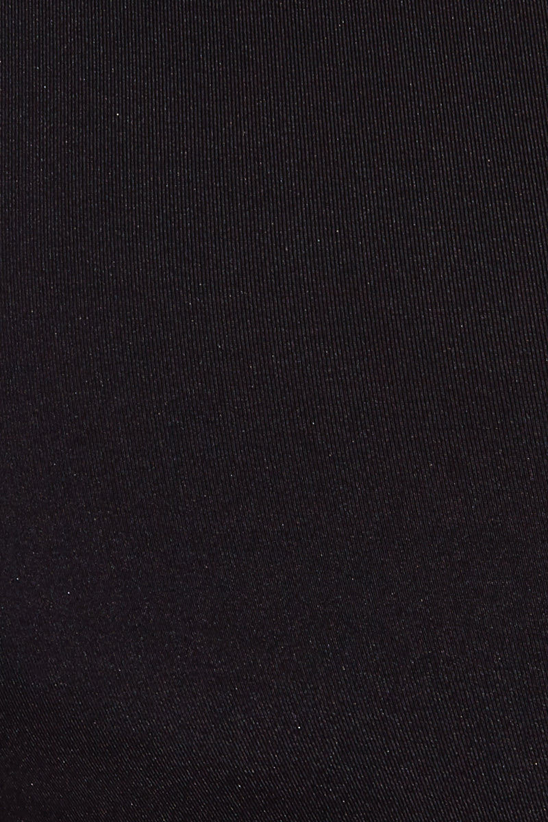 BOAMAR Stelle Rashguard - Black Bikini Top   Black  Boamar Stelle Rashguard - Black Close Up View  Rashguard V Neckline Wrap Style  Long Sleeves