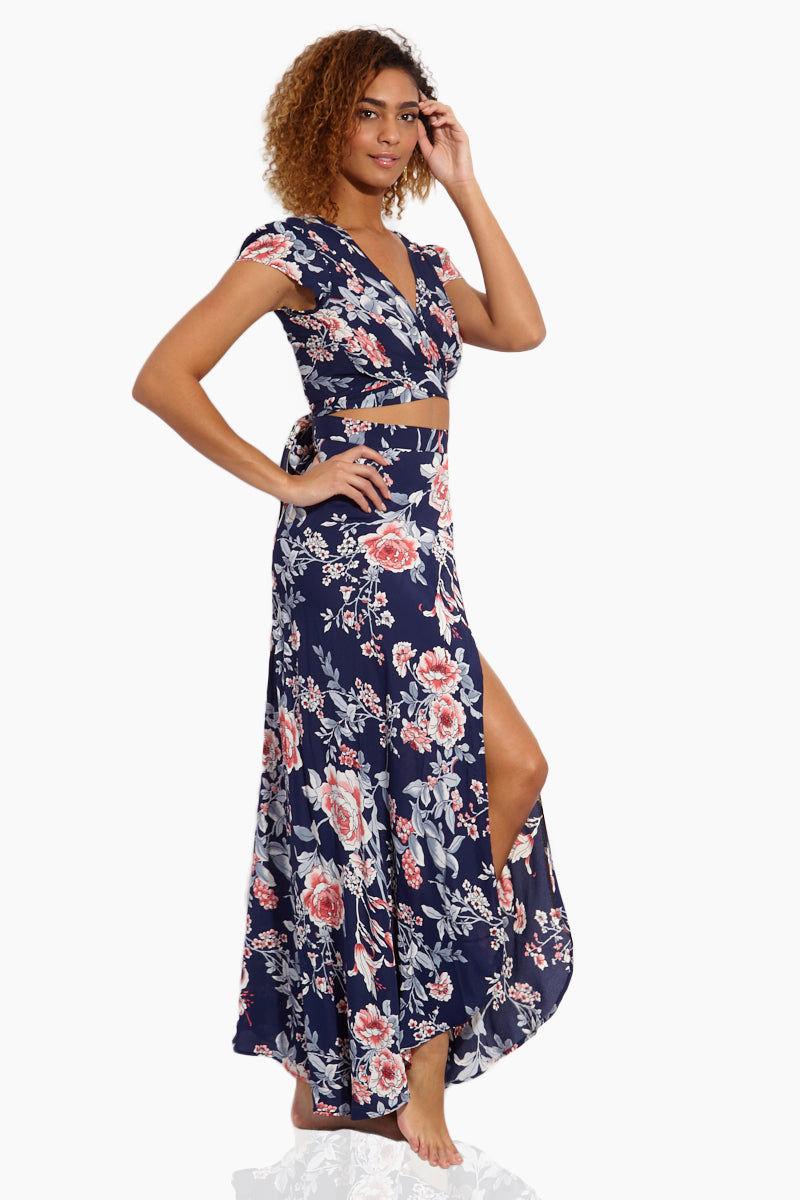 FLYNN SKYE Wrap It Up Skirt - Rosey Waters Skirt | Rosey Waters| Flynn Skye Wrap It Up Skirt - Rosey Waters Side View Full Length Skirt  Wrap Style Slit in the Front