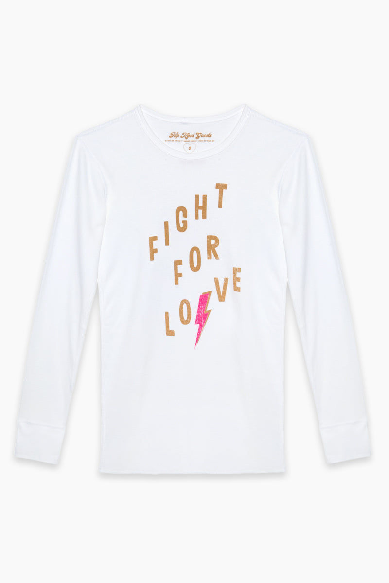 TOP KNOT GOODS Fight For Love Tee Top | Baby Blue|Top Knot Goods Fight For Love Tee
