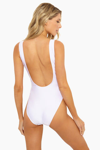 PRIVATE PARTY Heart One Piece Swimsuit- White/Red One Piece | Heart One Piece Swimsuit- White/Red