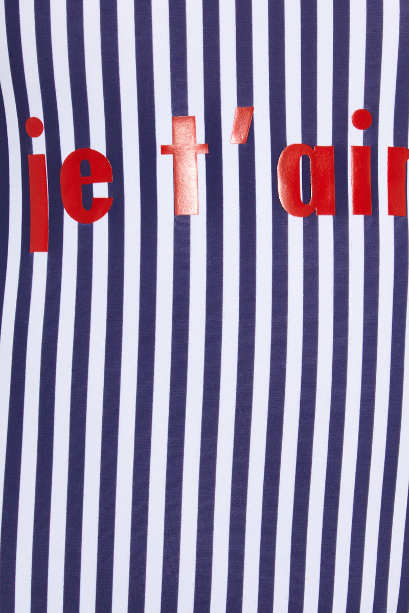 """PRIVATE PARTY Je T'aime One Piece Swimsuit - Blue One Piece 