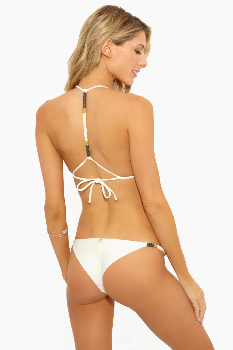 ba8011a4384 VIX SWIMWEAR Ella String Cheeky Bikini Bottom - Off White Bikini Bottom