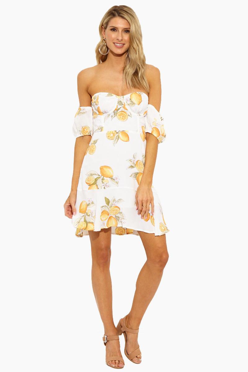 5d62364df995 FOR LOVE AND LEMONS Lemonade Mini Dress - Lemon