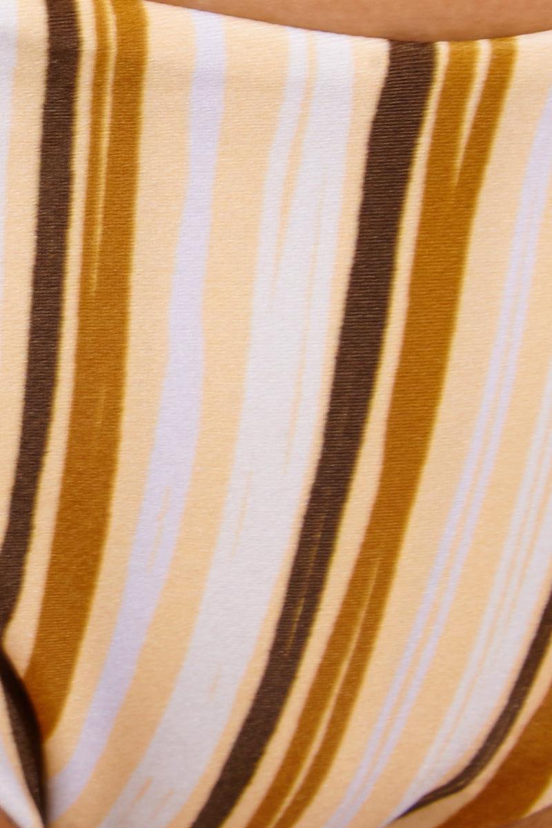 GILLIA Sonia Bottom - Retro Bikini Bottom | Retro| Gillia Sonia Bikini Bottom - Retro Detail View Low rise v cut  Ruffle Sides  Brazilian Cut  Skimpy Coverage  Made in Indonesia