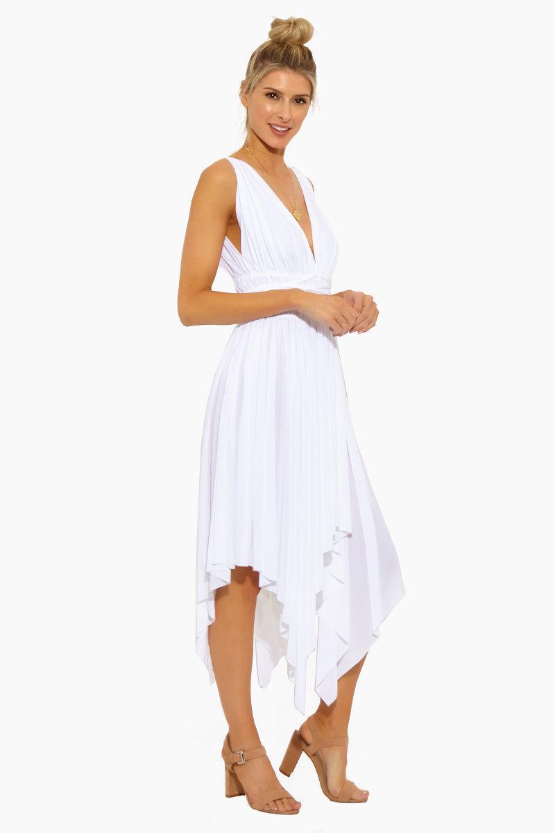 NORMA KAMALI Goddess Dress - White Dress | Goddess Dress - White