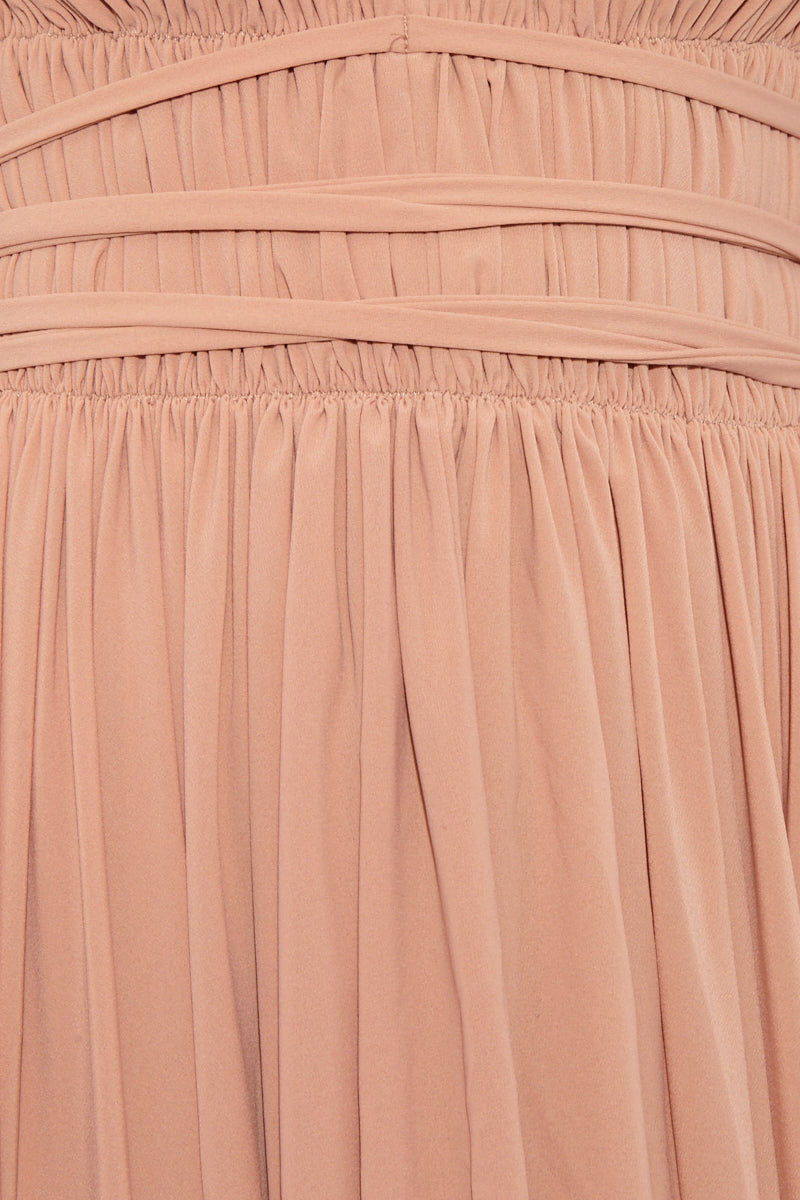 NORMA KAMALI Goddess Dress - Rose Dress | Rose|Norma Kamali Goddess Dress - Rose