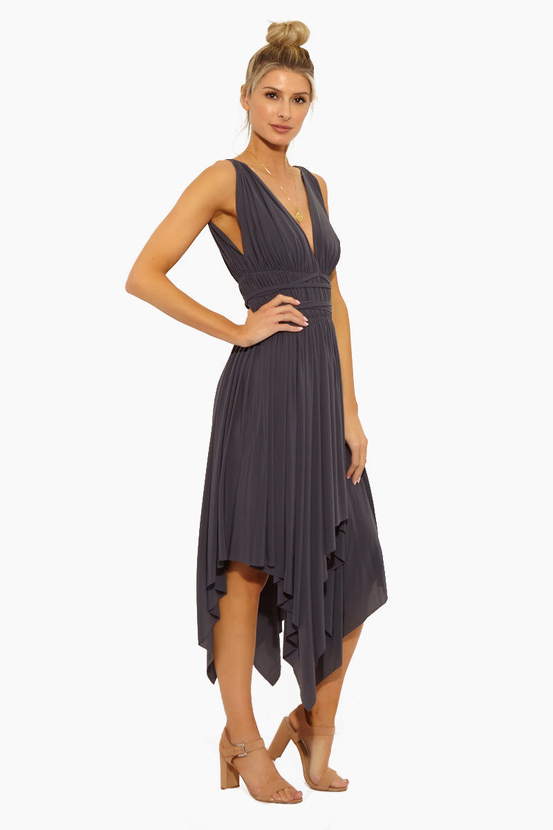NORMA KAMALI Goddess Dress - Pewter Dress   Goddess Dress - Pewter