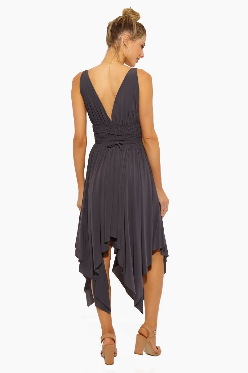 NORMA KAMALI Goddess Dress - Pewter Dress | Goddess Dress - Pewter