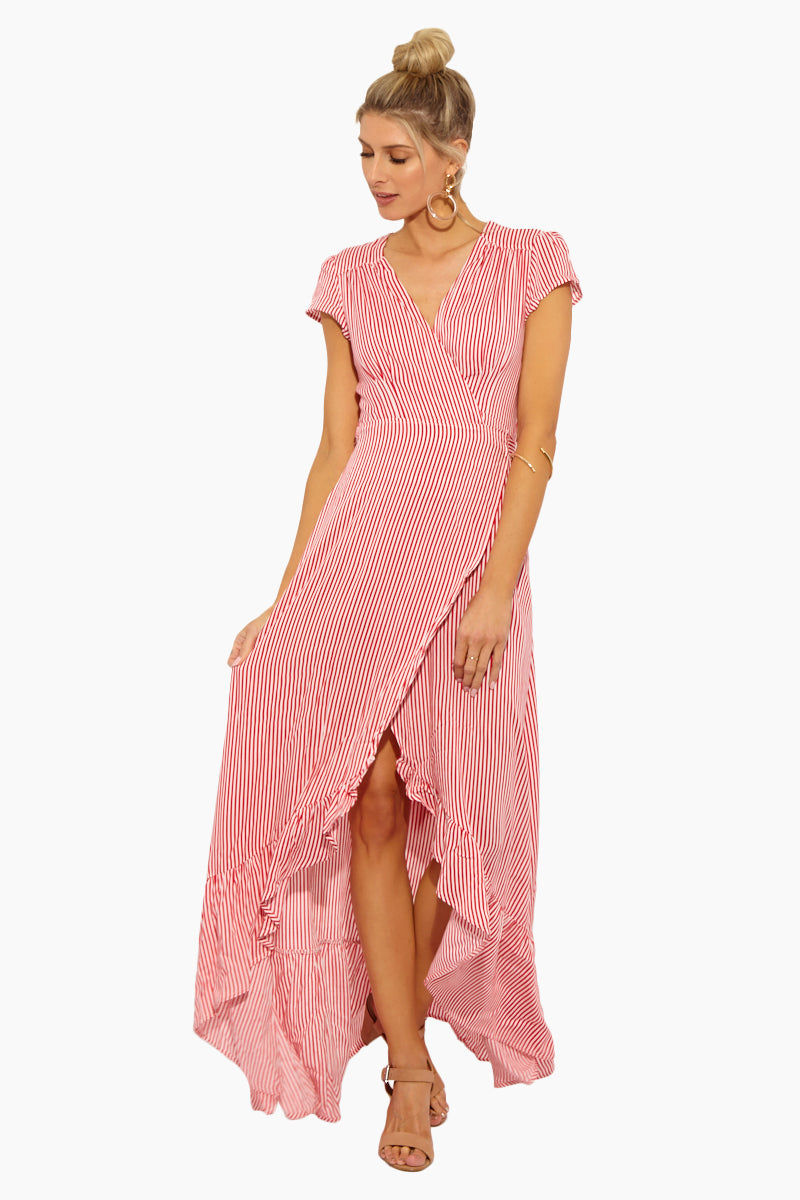 11aced7bee1d XIX PALMS Puerto Rico Wrap Maxi Dress - Pink