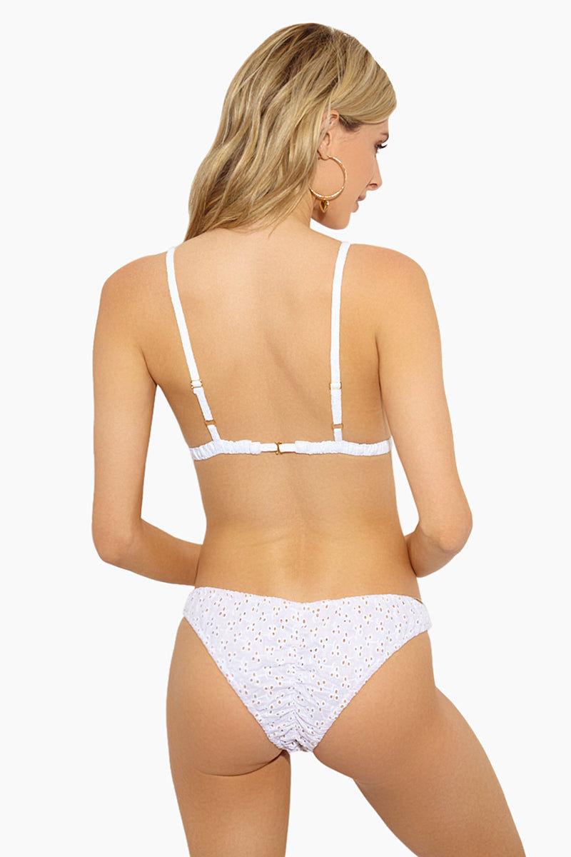 LOLLI Romeo Triangle Eyelet Bikini Top - Doile Bikini Top | Doile| Lolli Romeo Triangle Bikini Top Back View