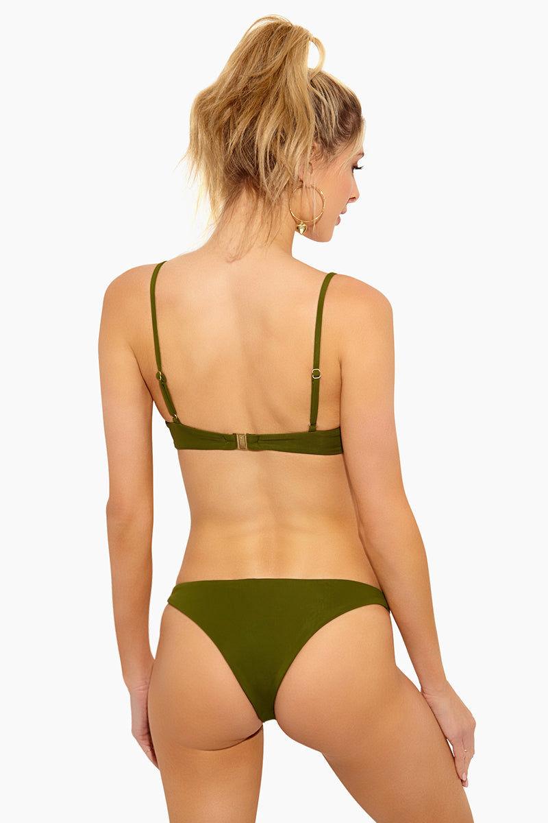 FELLA Brad Top - Olive Bikini Top | Olive| Fella Brad Top - Olive Bra Style Bikini Top  Thin straps Underwire for extra support Back clasp