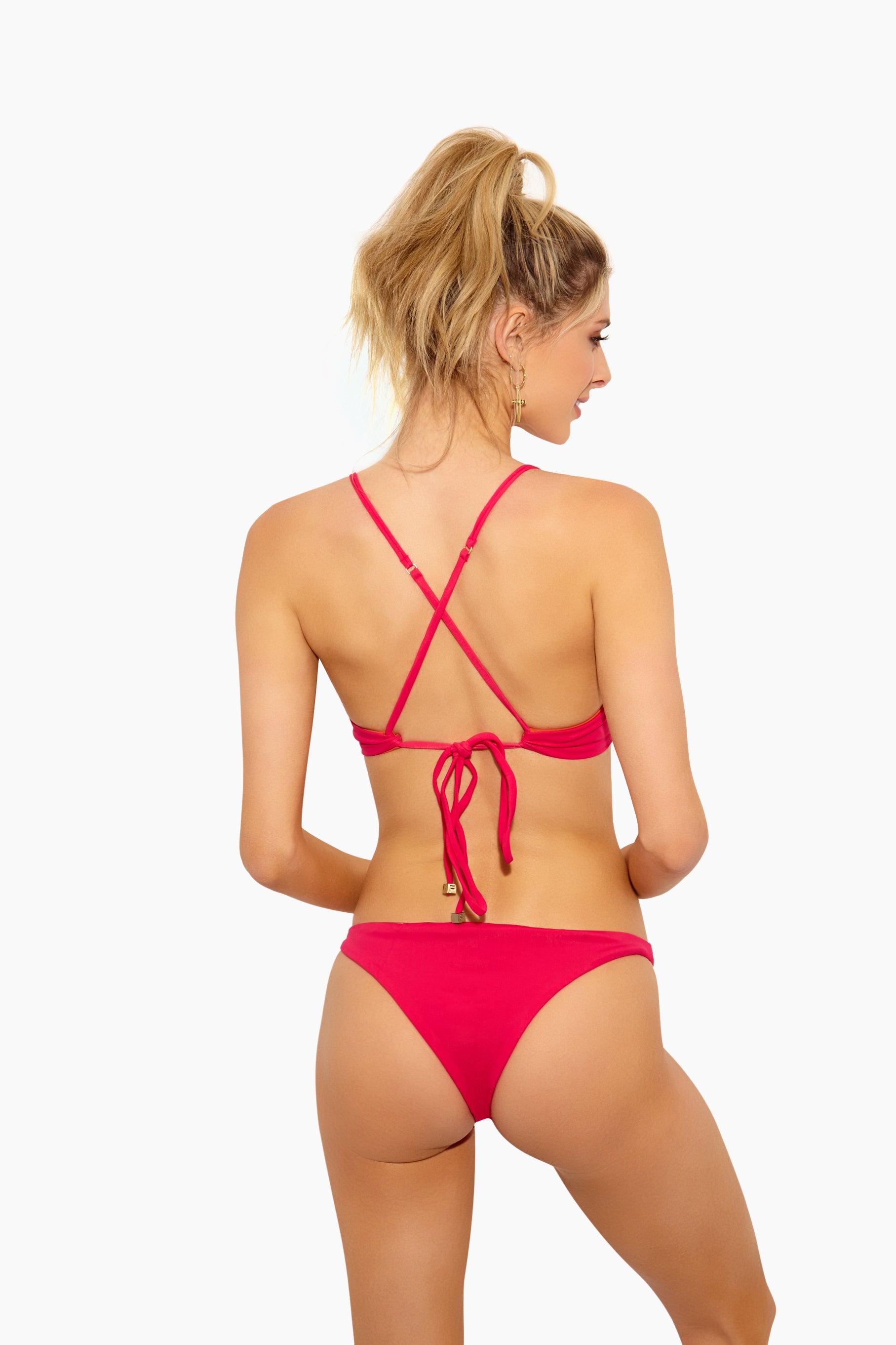 FELLA William Shakespeare Sporty Bikini Top - Fresia Bikini Top   Fresia William Shakespeare Top - Features:  Sporty Top  Thin Spaghetti Straps Criss Cross Back Ties at Center Back
