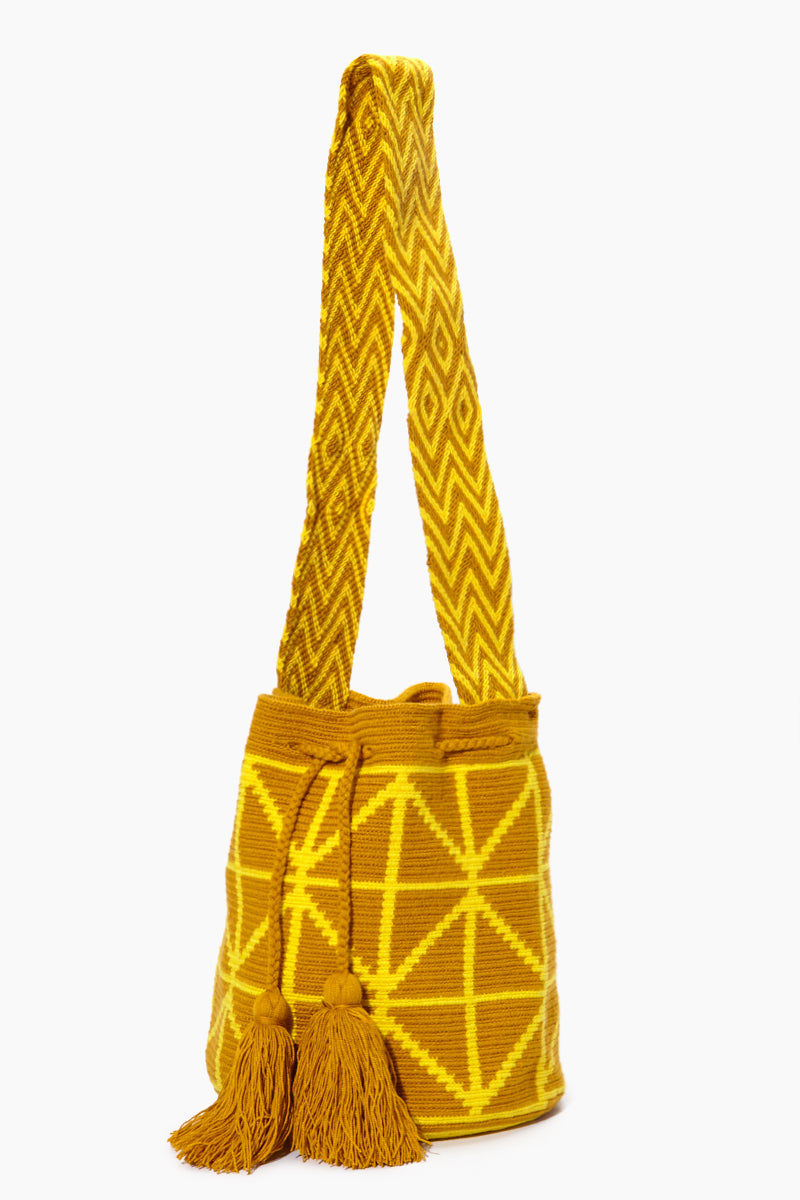CHILA BAGS Cris M Classic Bag - Yellow Bag | Yellow| CHILA Bags Cris M Classic Bag Front View