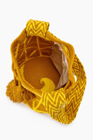 CHILA BAGS Cris M Classic Bag - Yellow Bag | Yellow| CHILA Bags Cris M Classic Bag Open View