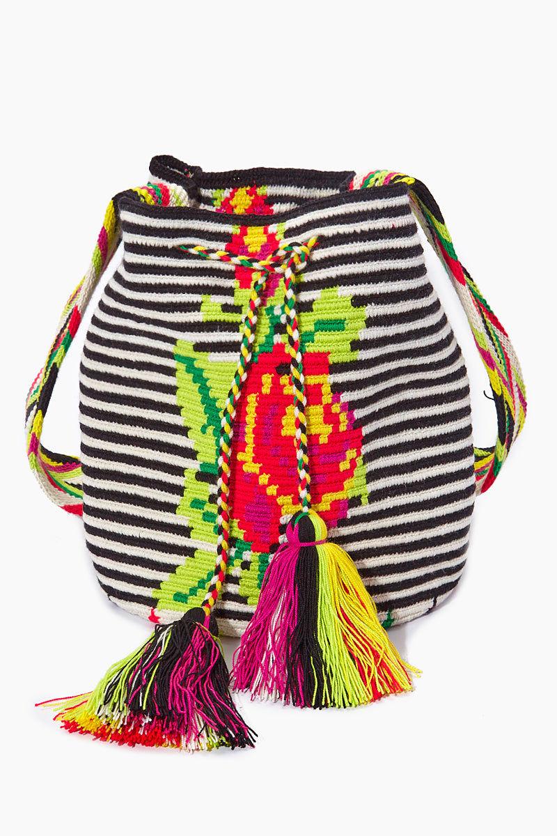 CHILA BAGS Providencia M Classic Bag - Rose Print Bag | Print| CHILA BAGS Providencia M Classic Bag Front View