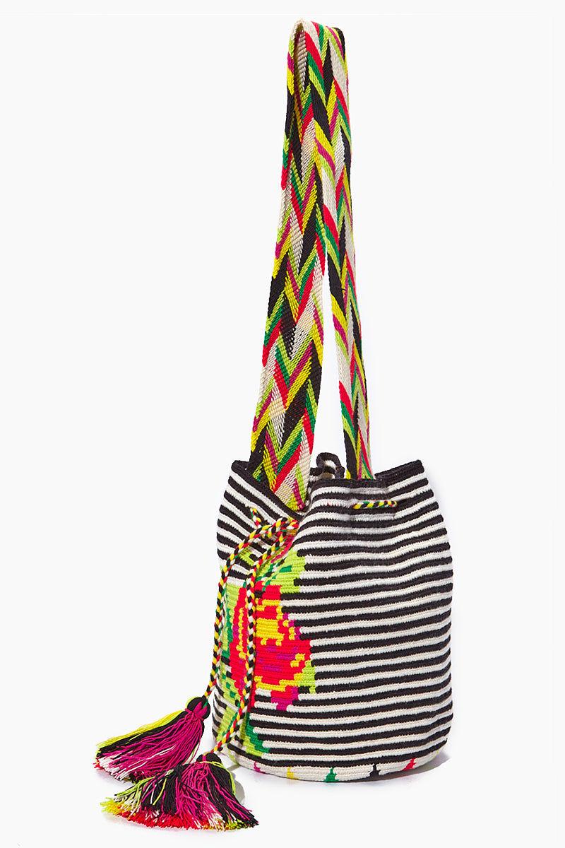 CHILA BAGS Providencia M Classic Bag - Rose Print Bag | Print| CHILA BAGS Providencia M Classic Bag Side View