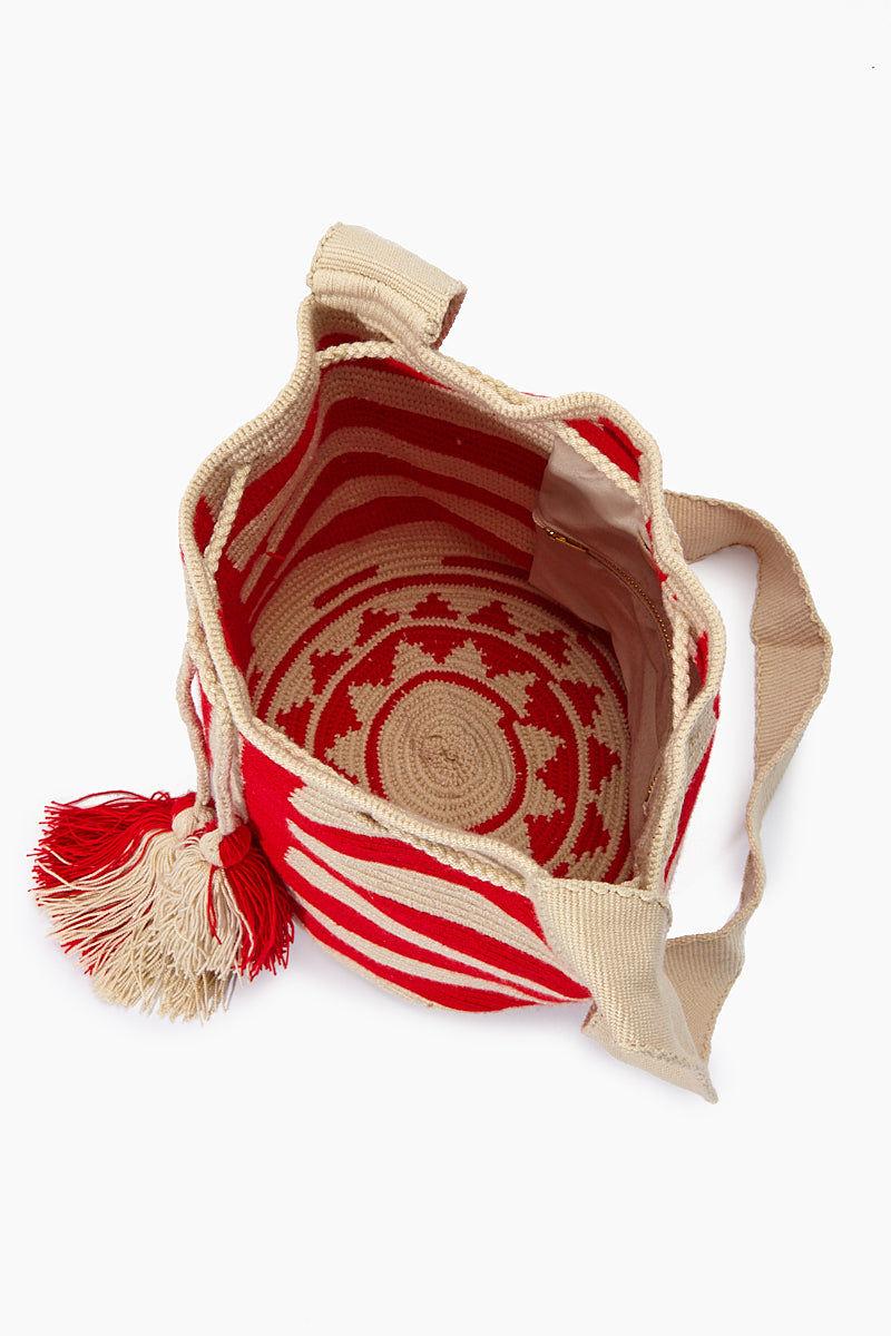 CHILA BAGS Baudo R Classic Bag - Red Bag | Red| CHILA BAGS Baudo R Bag Open View