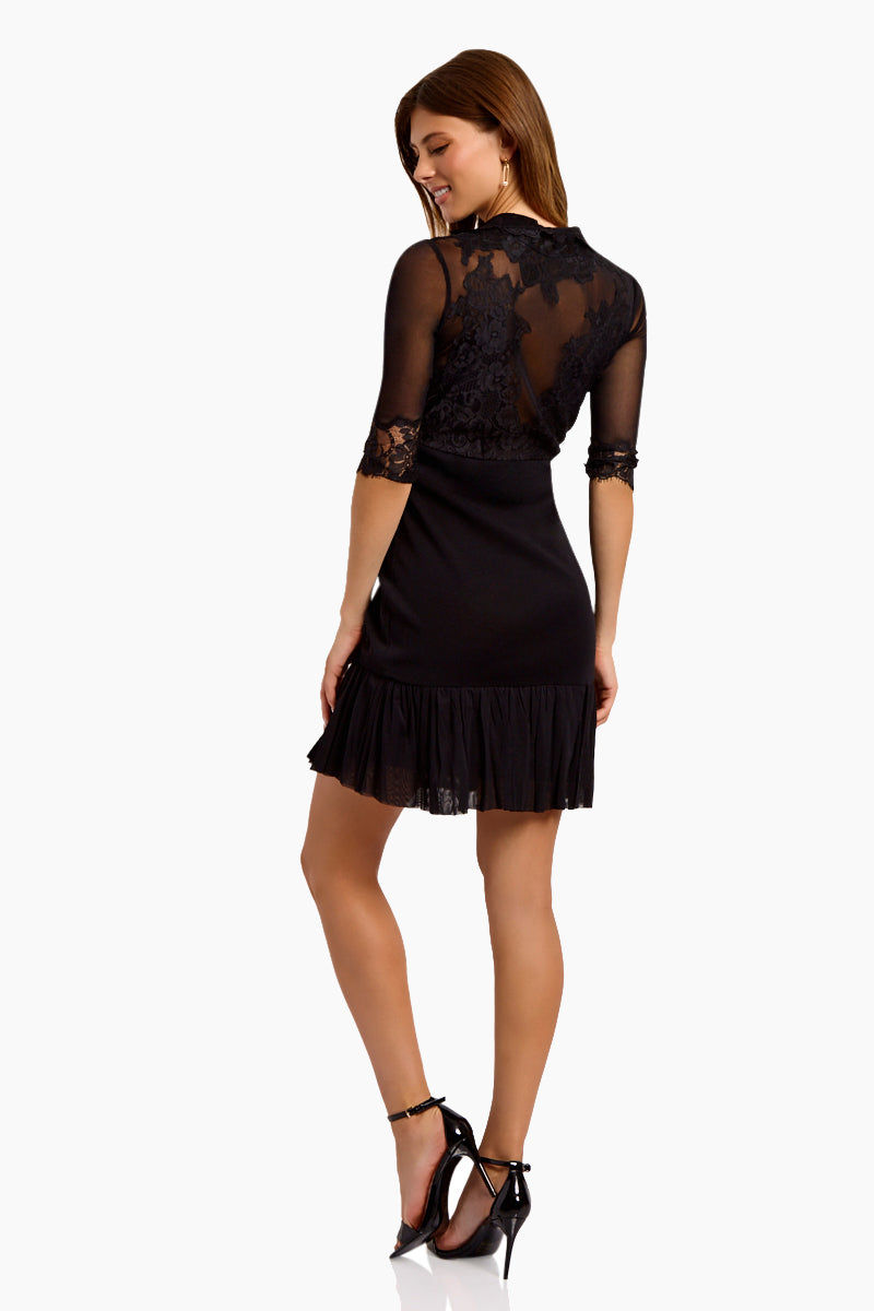 WE ARE HAH Multi-Way Bow Down Mini Dress - Noir Dress | Noir| Hot As Hell Reversible Bow Down Dress - Noir Features:   Mini Dress Can Be Worn Front or Back 3/4 Sleeves Satin Sash Cinches at the Waist Fully Lined Skirt Back View