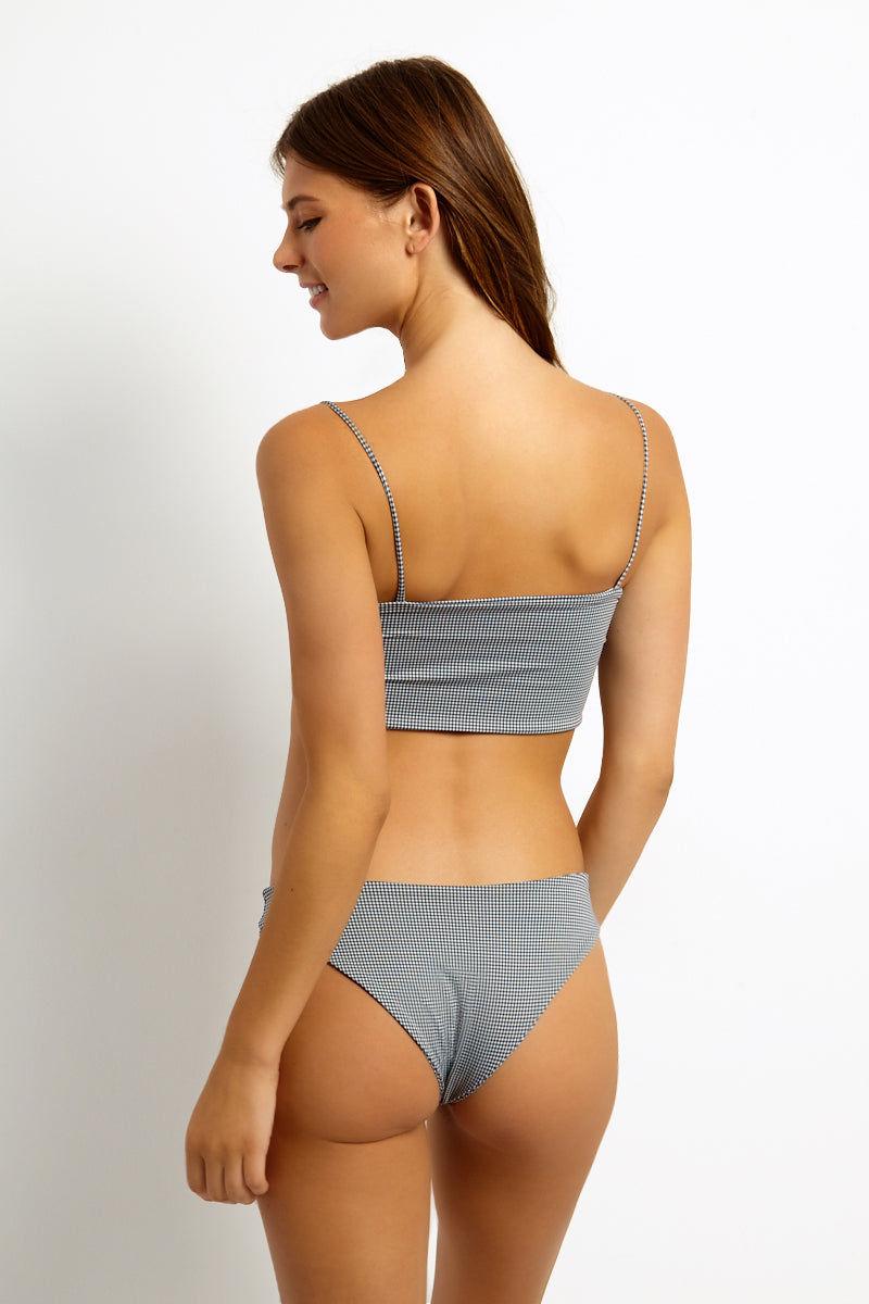 KAOHS Jimi Cheeky Bikini Bottom - Gingham Bikini Bottom   Gingham  KAOHS Jimi Full Coverage Bikini Bottom Back View