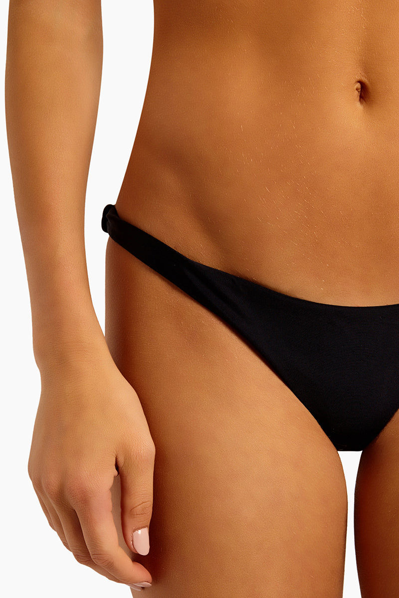 """CHLOE ROSE Forget Me Not Cheeky Bikini Bottom - Black Bikini Bottom 