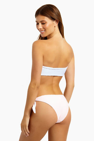 MINKPINK Gelato Reversible Tie Side Bikini Bottom - Gelato Bikini Bottom | Gelato| MinkPink Gelato Reversible Tie Side Bikini Bottom - Gelato Tie Side Bottom   Cheeky Coverage  Reversible  Ribbed Textured Fabric Back View